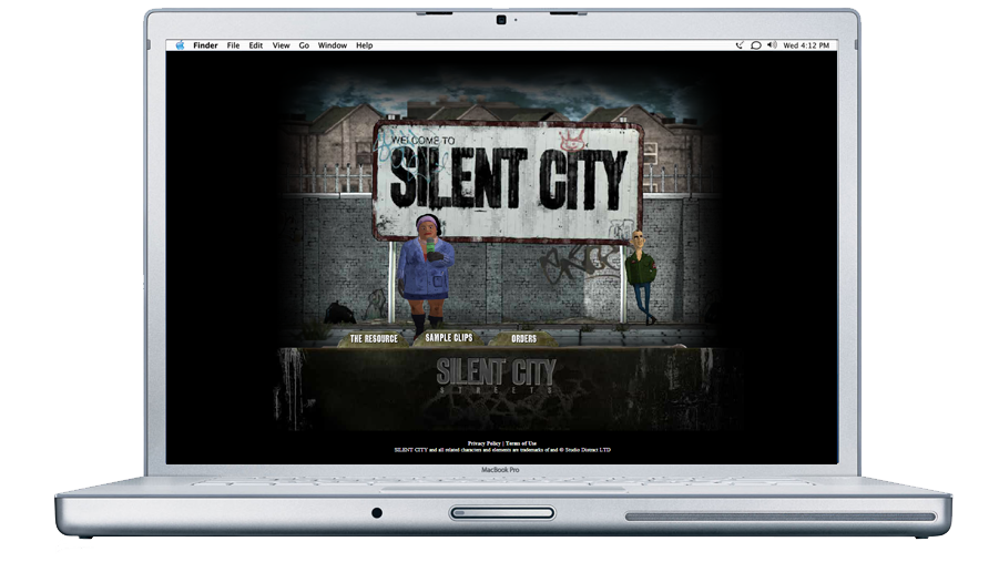 website, silent city streets