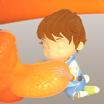 Boy And Dinosaur – Nose Touch